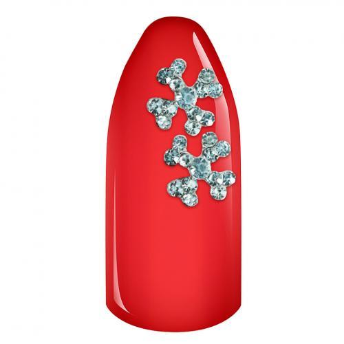 Decoratiuni Unghii 3D - Floare strasuri 03 set 2 bucati - Produse Nail Art - Ornamente Unghii