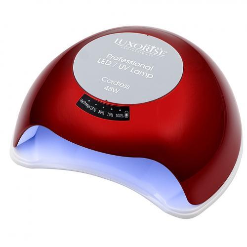 Lampa UV LED Portabila 48W cu ACUMULATOR + Ventilator - LUXORISE Germania - Culoare Rosu - Lampa UV  -