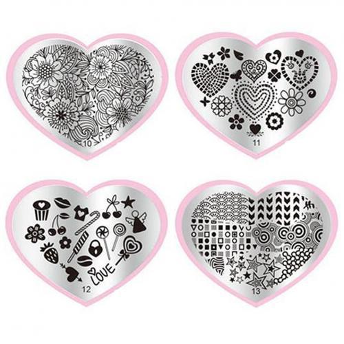 Matrita Metalica Stampila Unghii Cherry - Love Story - Produse Nail Art - Matrita Unghii