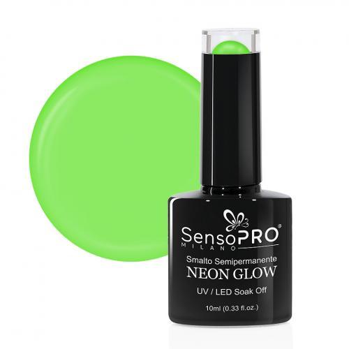 Oja Semipermanenta Neon Glow SensoPRO Milano #12 Delicious Kiwi - 10ml - Oja Semipermanenta - Oja NeonGlow SensoPRO 10ml
