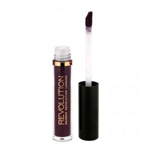 Ruj lichid mat Makeup Revolution Salvation Velvet Lip Lacquer - Velvet Vamp - Produse de Machiaj - Make-up Buze