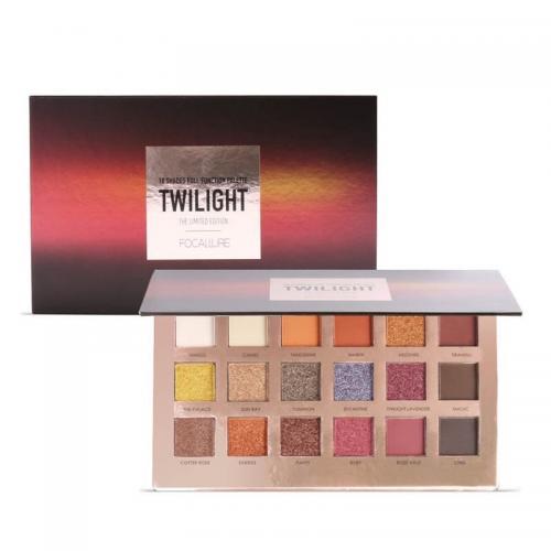 Trusa 18 farduri de pleoape Focallure Twilight Collection - Trusa Machiaj Glitter -